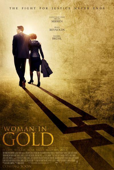 Hölgy aranyban – Plakát