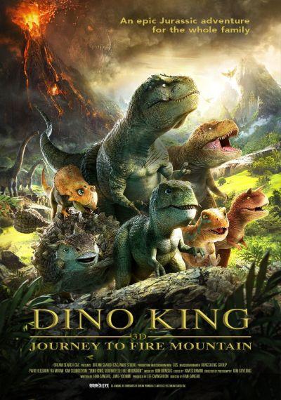 Dinó király - Út a tűzhegyre – Plakát