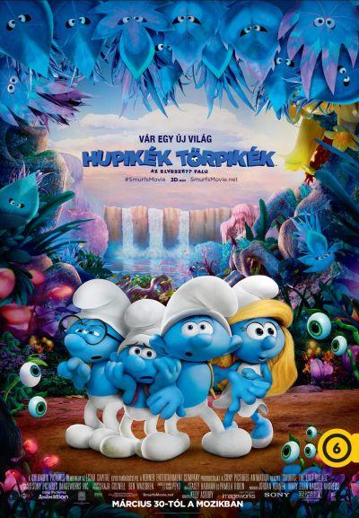 Hupikék törpikék - Az elveszett falu – Plakát