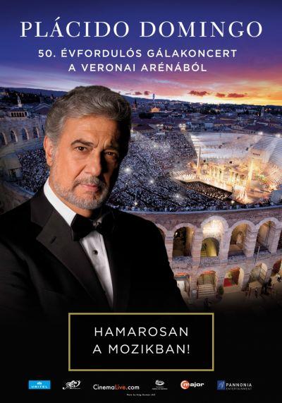 Plácido Domingo 50. évfordulós gálakoncertje a Veronai Arénában – Plakát