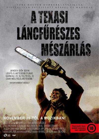 A texasi láncfűrészes mészárlás – Plakát