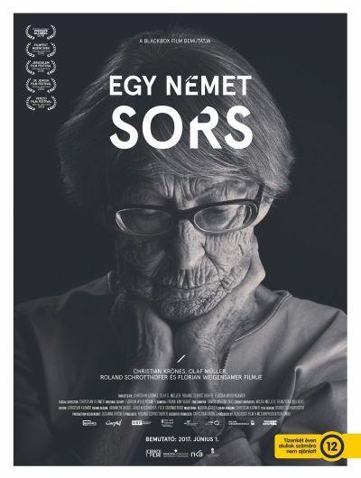 Egy német sors – Plakát